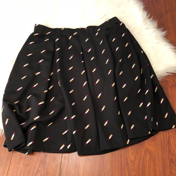 e96f08e5780 Ashley Nell Tipton Lipstick Skirt Skater Scuba